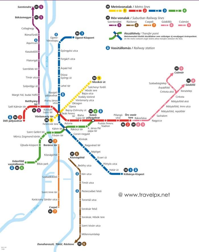 Các tuyến Metro ở Budapest