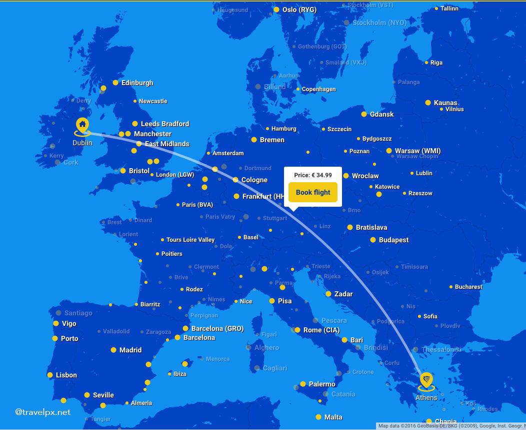 Các đường bay của Ryanair