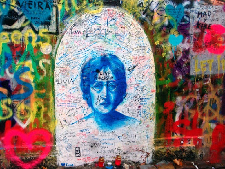 John Lennon Mural, em Praga