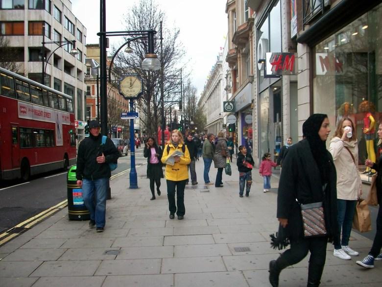 O que visitar em Londres oxford-street