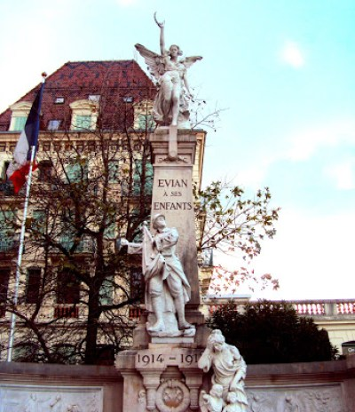 Evian, a romantic french town.