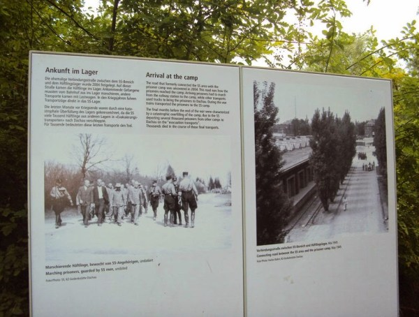 An old photograph of Dachau Concentration Camp