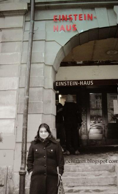 Myself in front of Einstein House.