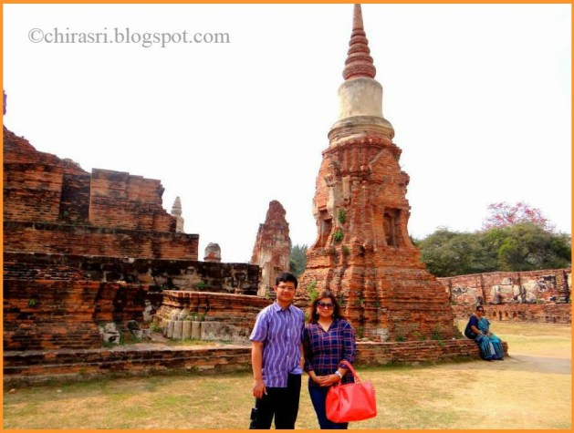 Me and my brother in Wat Maha That in Ayutthaya