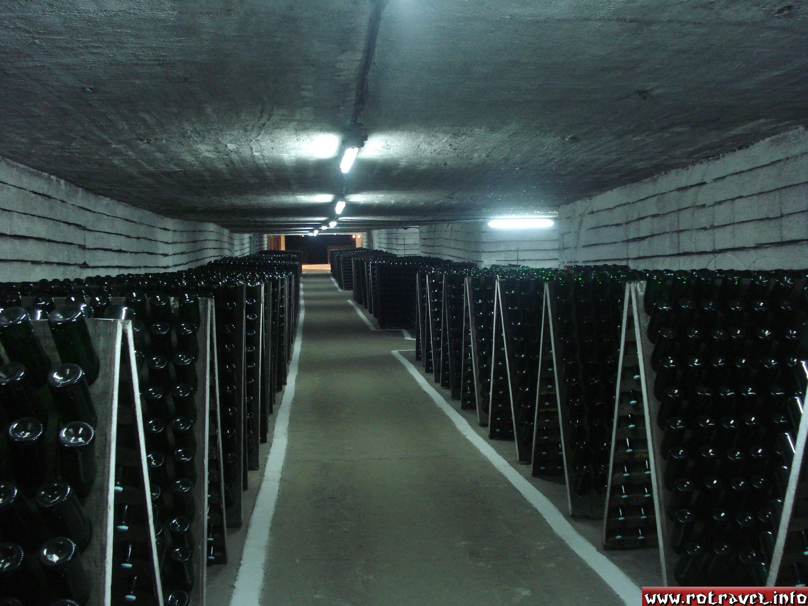 The cellar where the Champagne is kept, place located on Champagne's Boulevard.