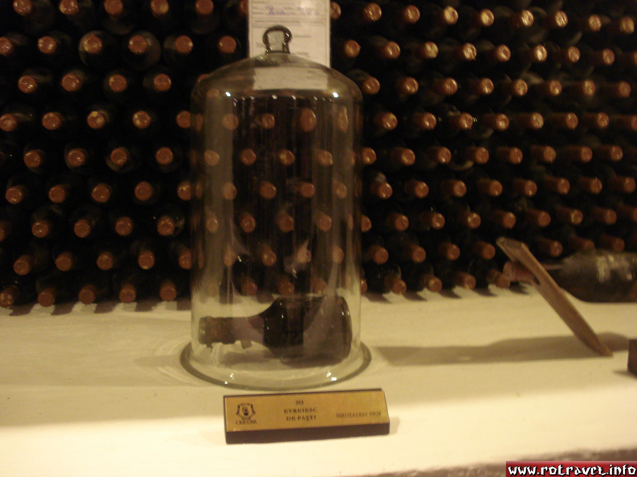 The oldest bottle of Wine from Cricova, taken from Israel, in 1902.