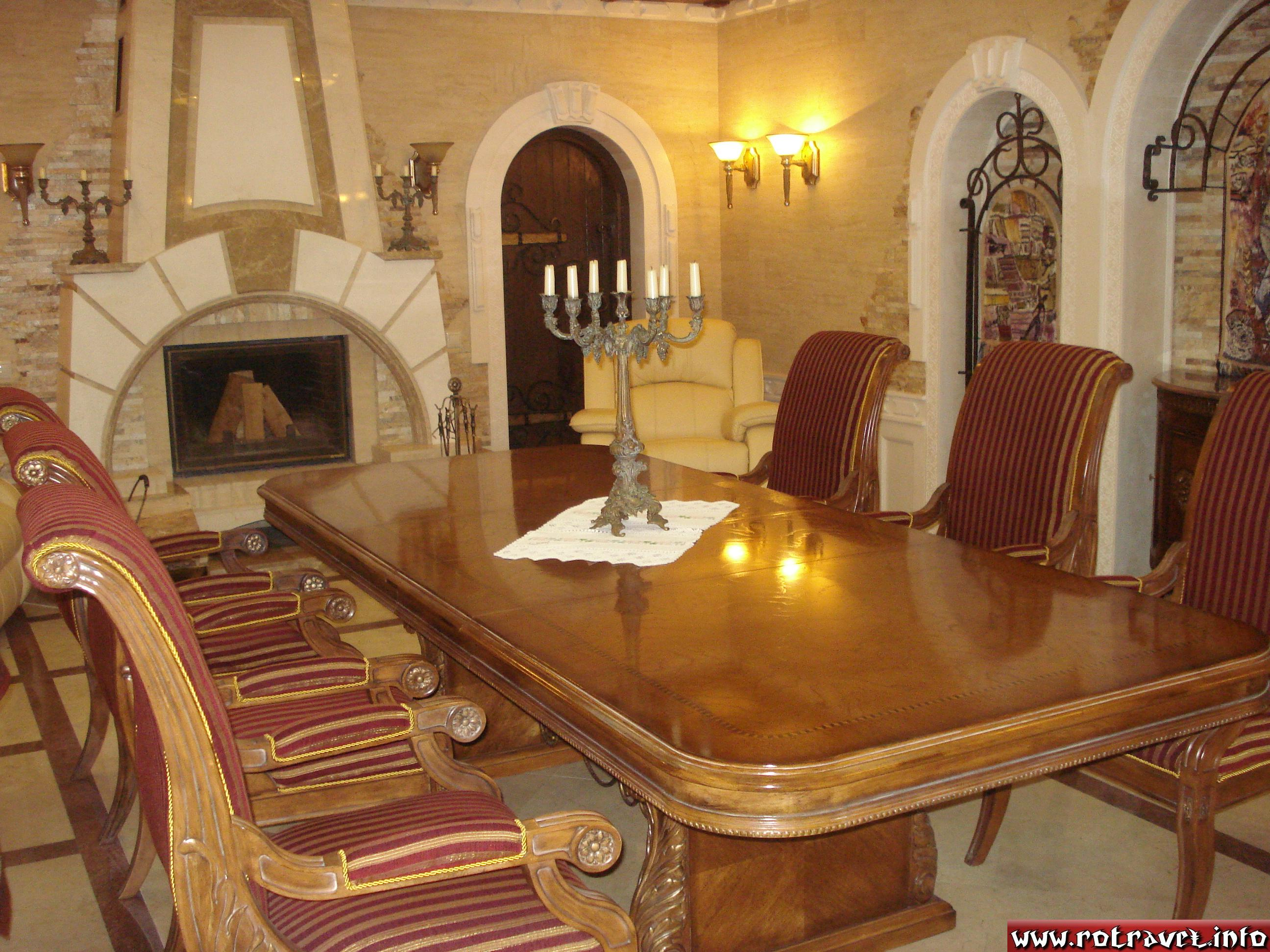 The favourite relaxing chamber from Cricova of the ex-president of Moldova, Vladimir Voronin.