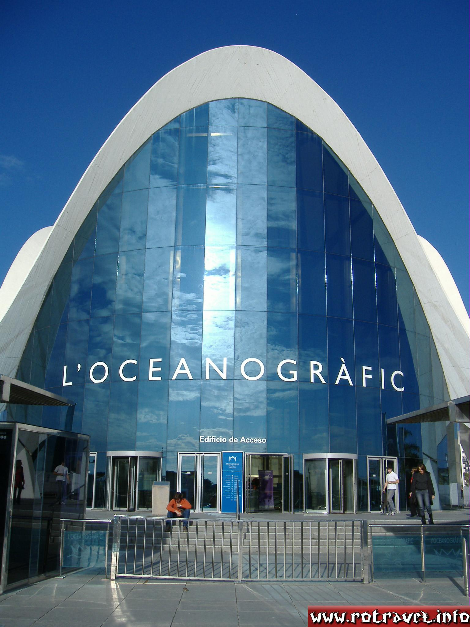 L'Oceanogràfic — Open-air oceanographic park (entrance). Here you can see the prices of tickets: http://www.cac.es/cac/informacion/tarifas)