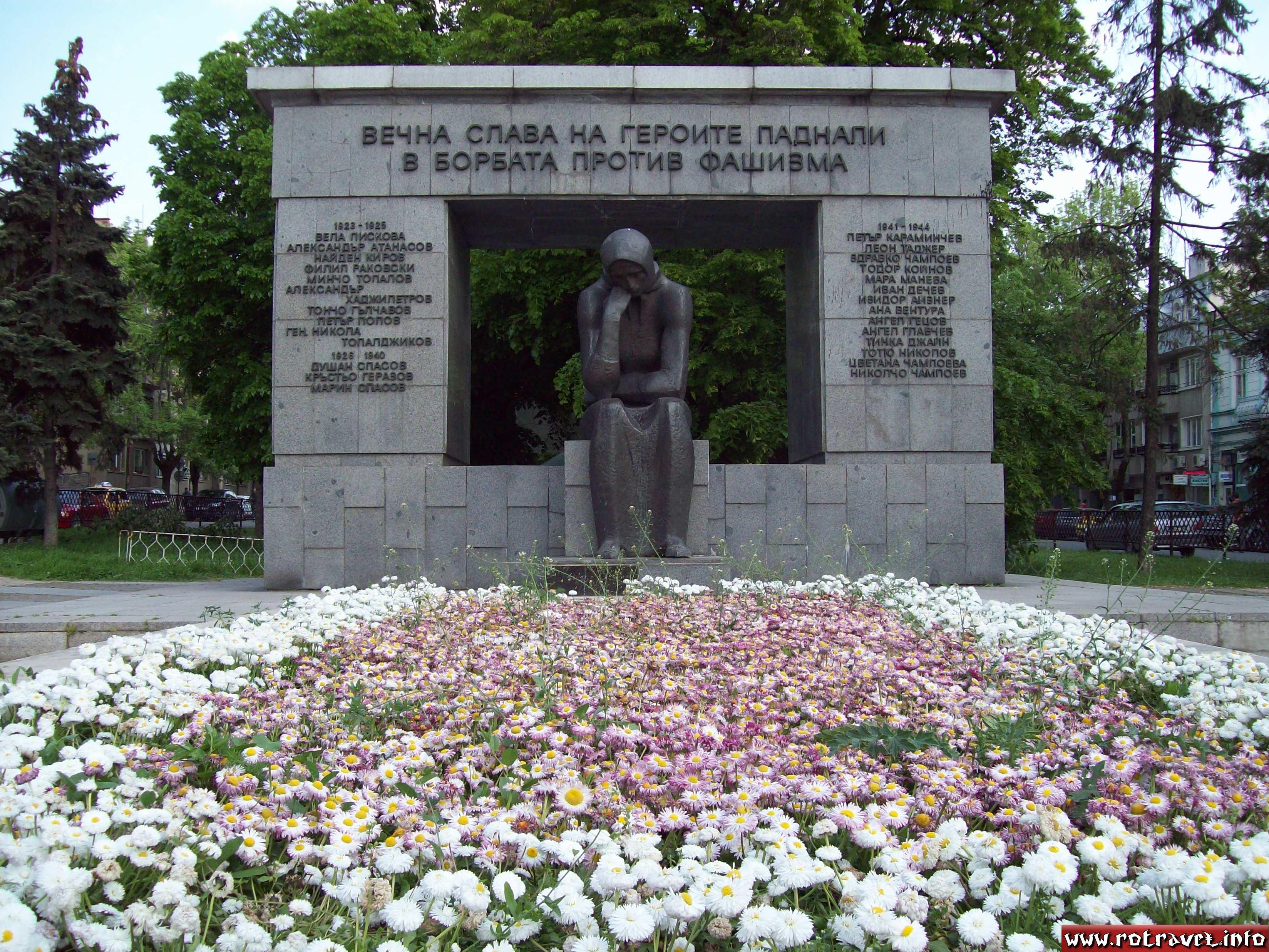 A monument dedicated for the victory against the fascism