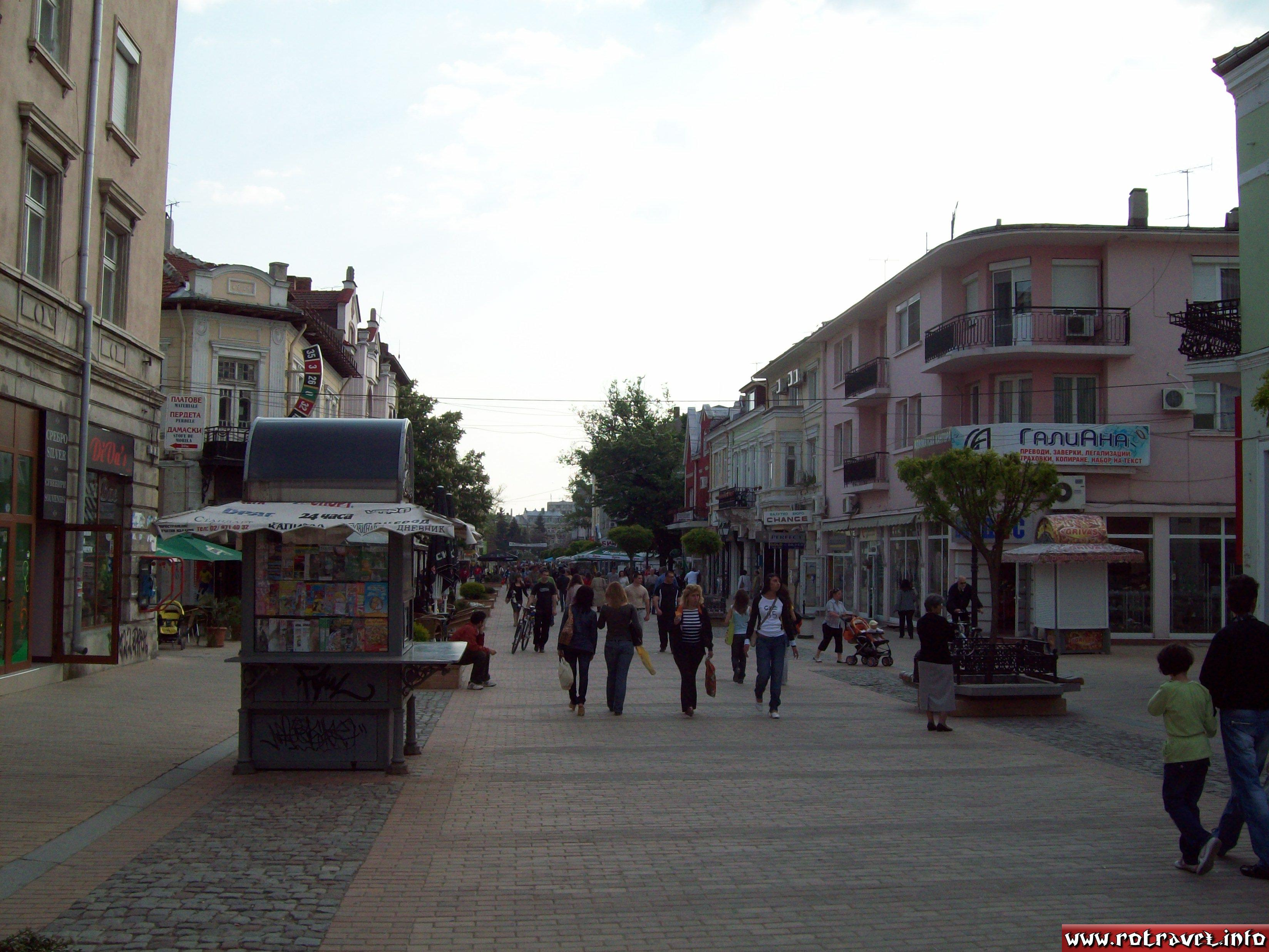One of the principal streets from the old centre