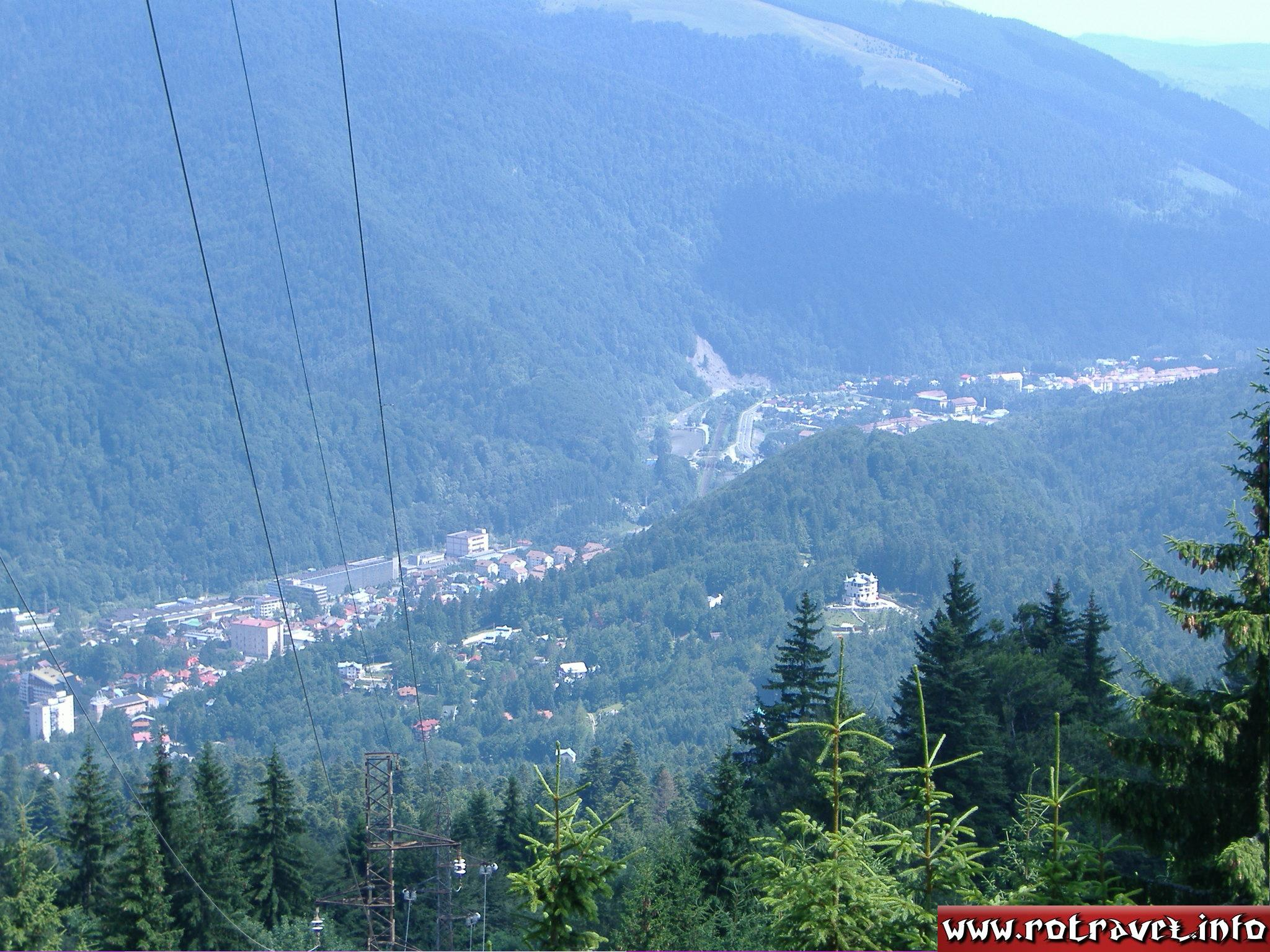 Down you can see the city Sinaia