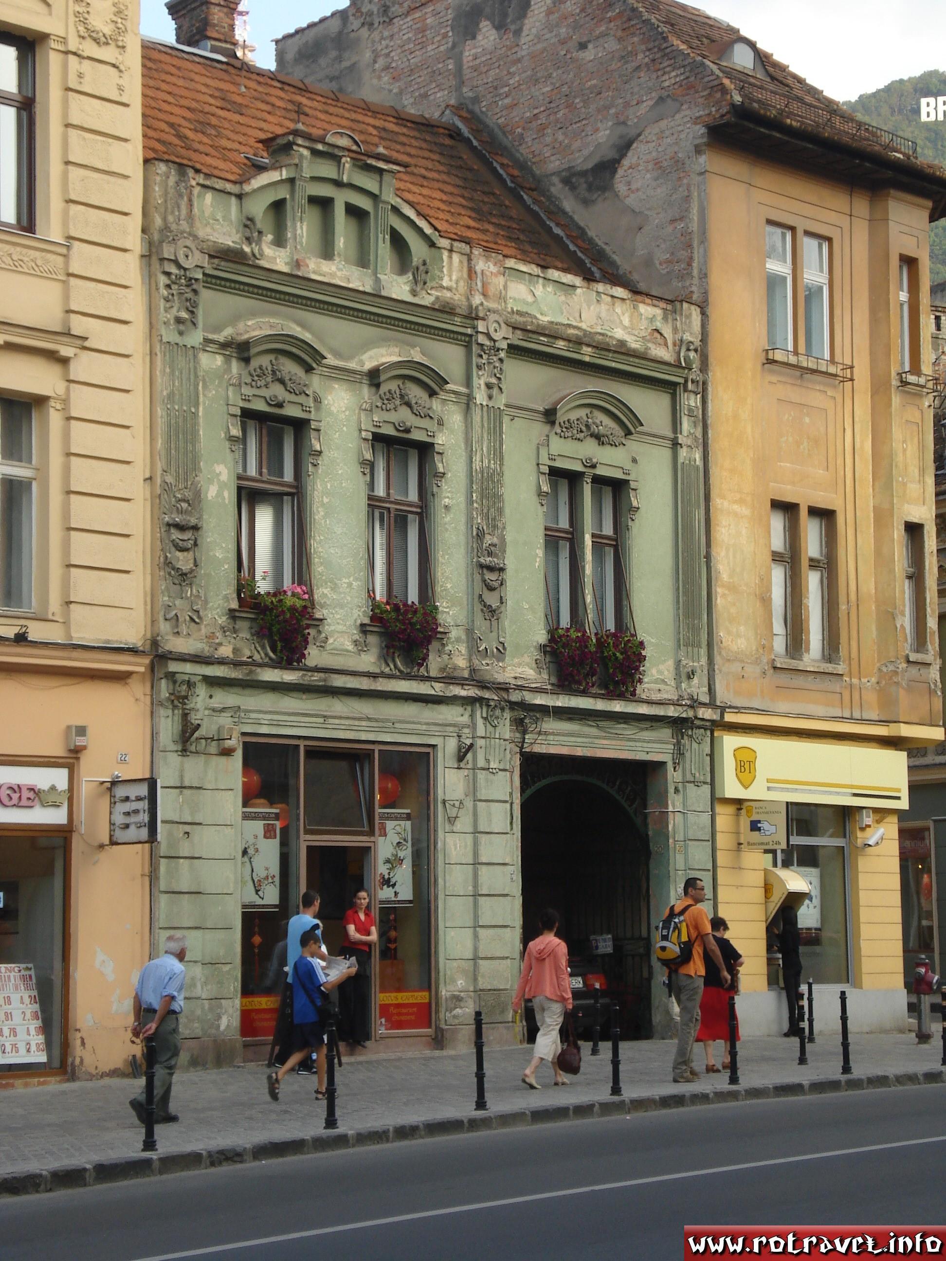 An old building near to the Council Square (Piaţa Sfatului)