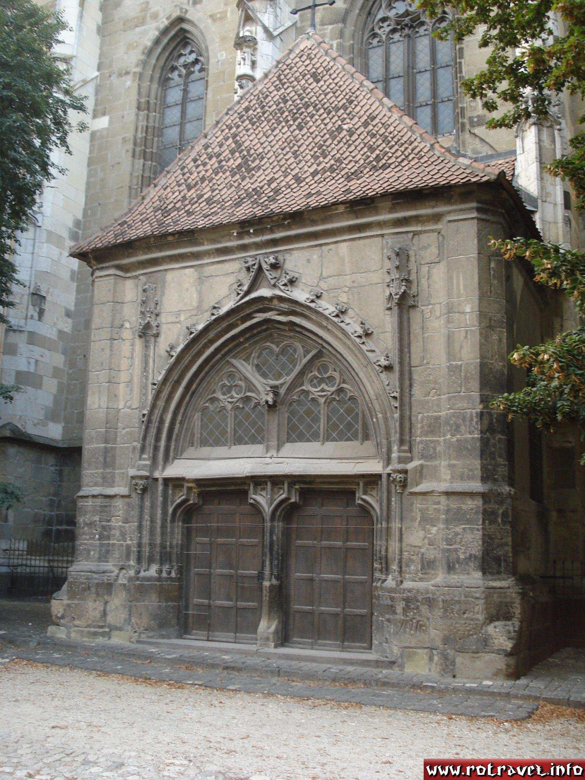 One of the lateral entrance to the church