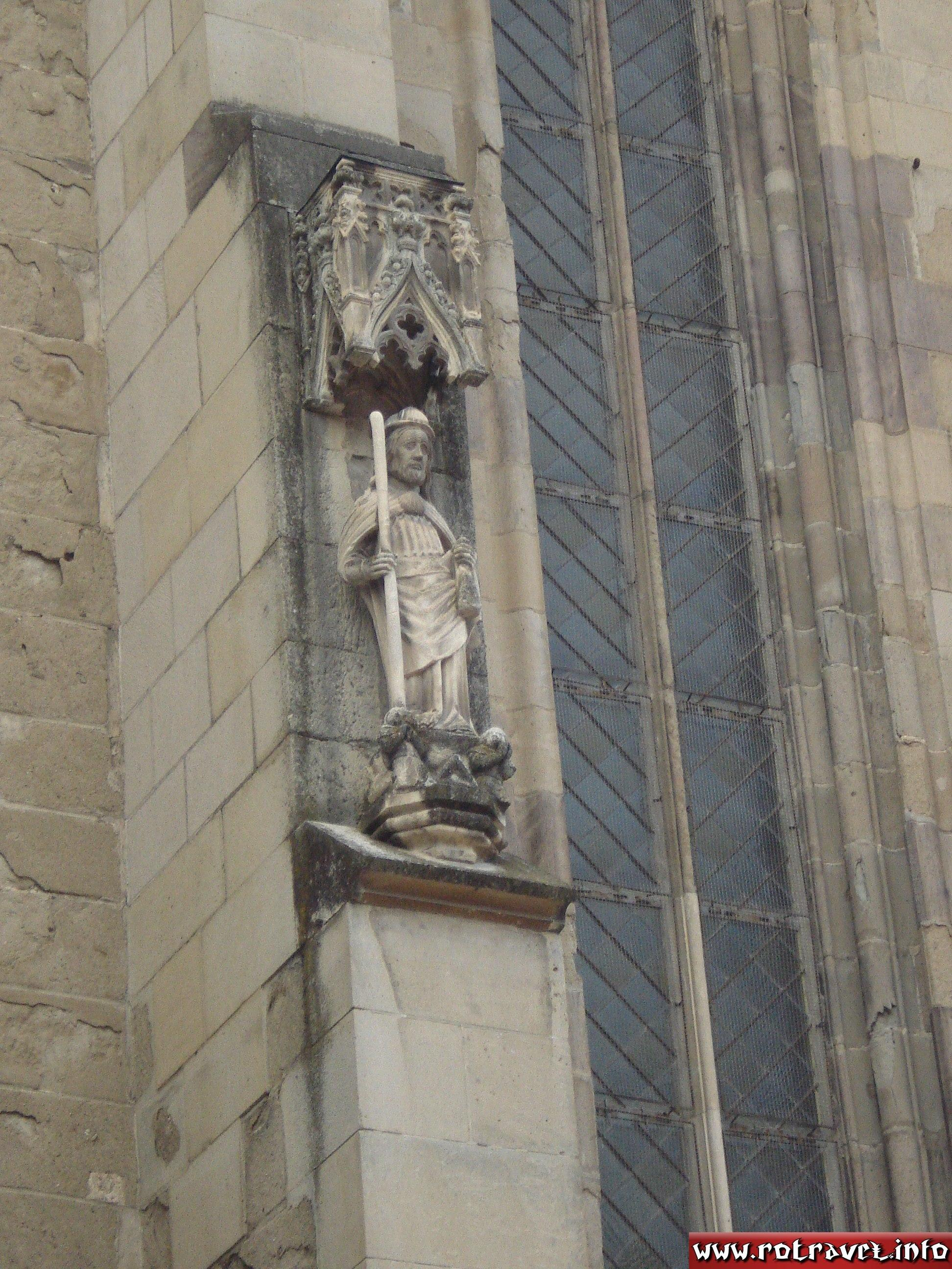 Small statues outside of church