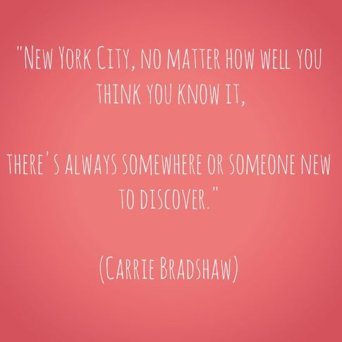 Sex and the City Quote about New York