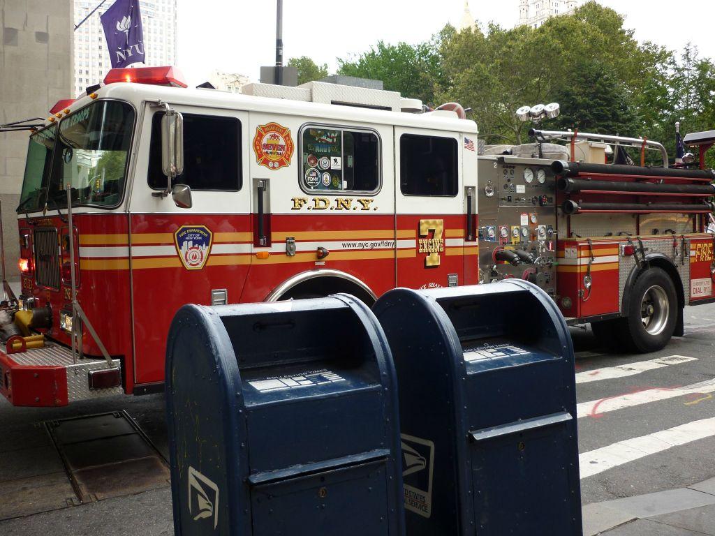 Amerikanisches Feuerwehrauto New York
