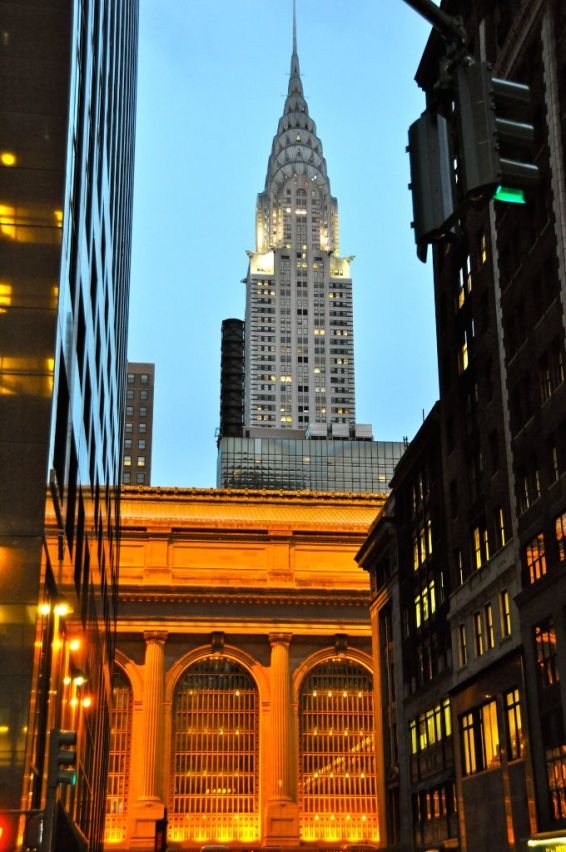 Grand Central Station und Chrysler Building im Hintergrund