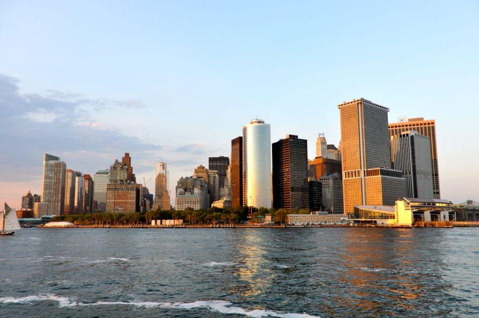 New York Skyline vom Wasser aus