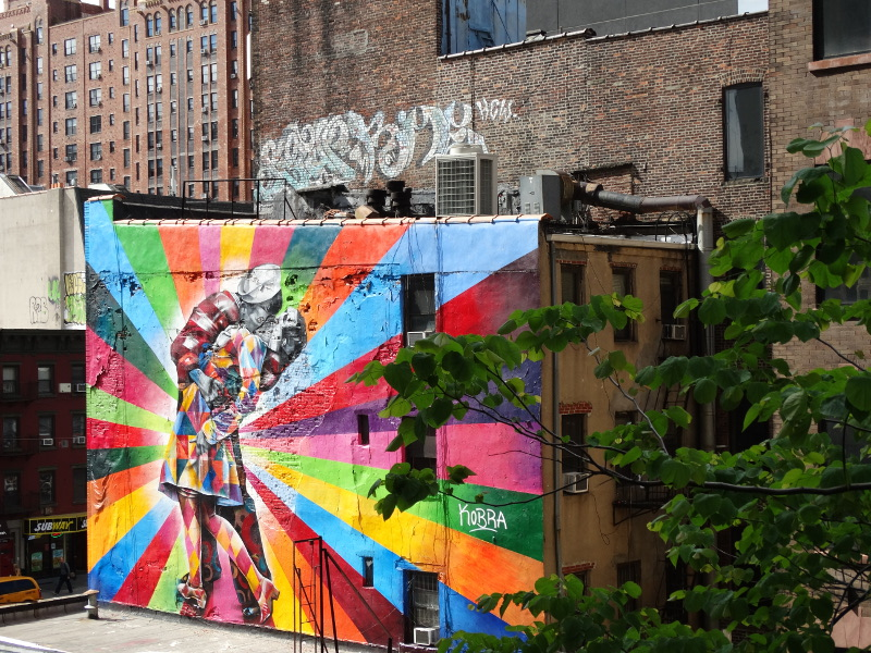 Street Art High Line Park New York