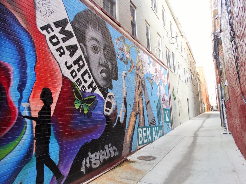 Gasse mit Street-Art im Szene-Viertel U-Street in Washington DC
