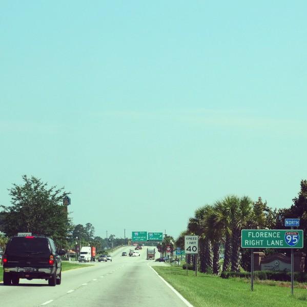 Auf der Interstate 95 USA Roadtrip