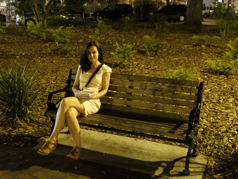Chippewa Square Savannah, wo Forrest Gump gedreht wurde