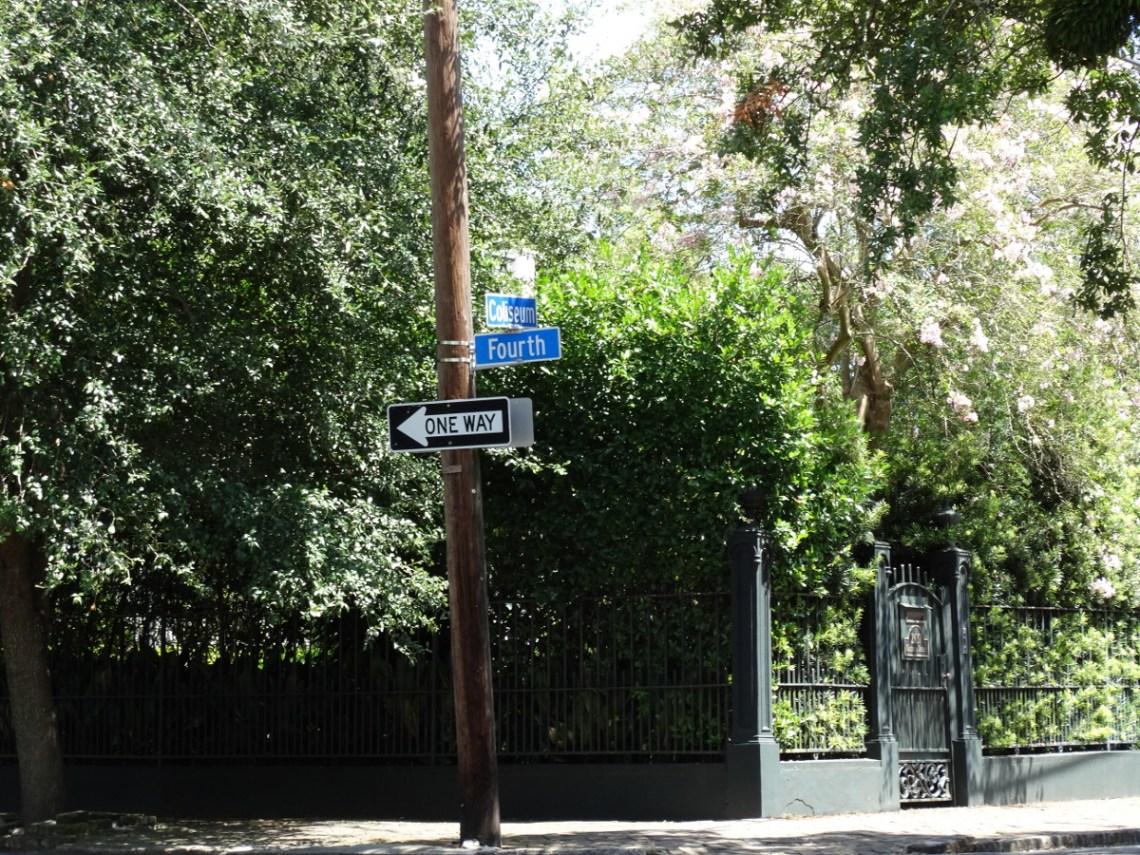 Garden District streets