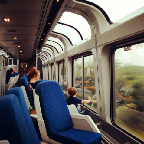 Im Observation Car Amtrak