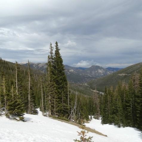 Schnee Rocky Mountain NP