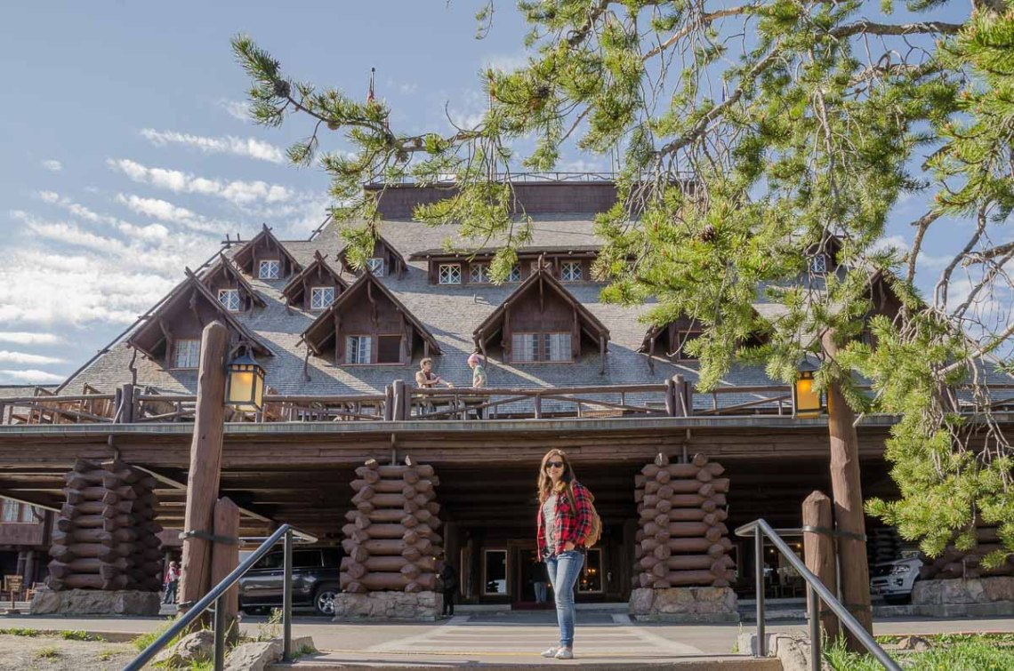 Old Faithful Inn Blcokhaus im Yellowstone Nationalpark