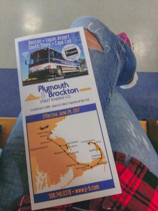 Plymouth & Brockton bus map von boston cape cod