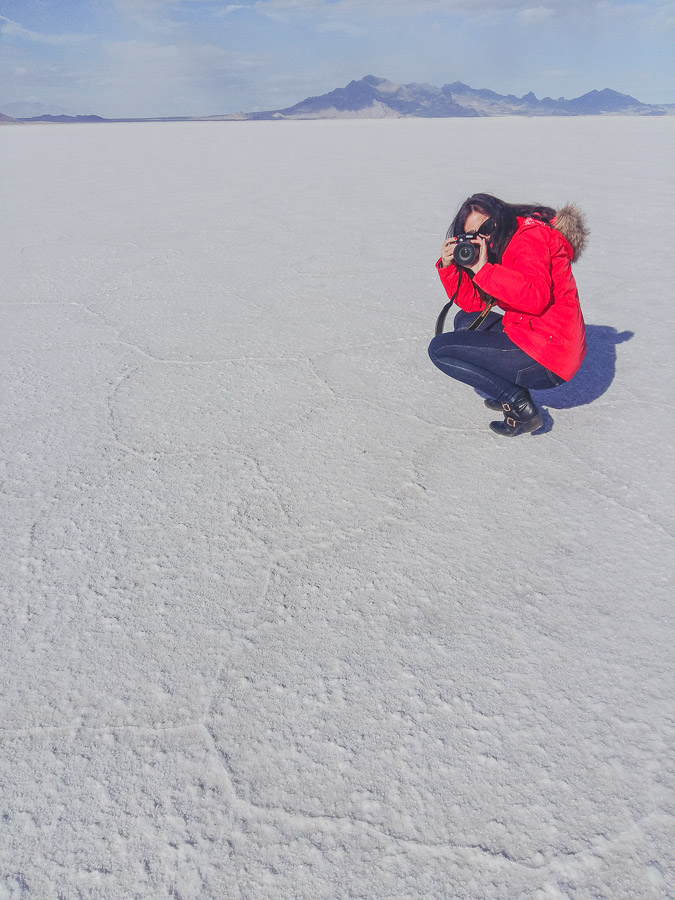 Bonneville Salt Flats bei Utah