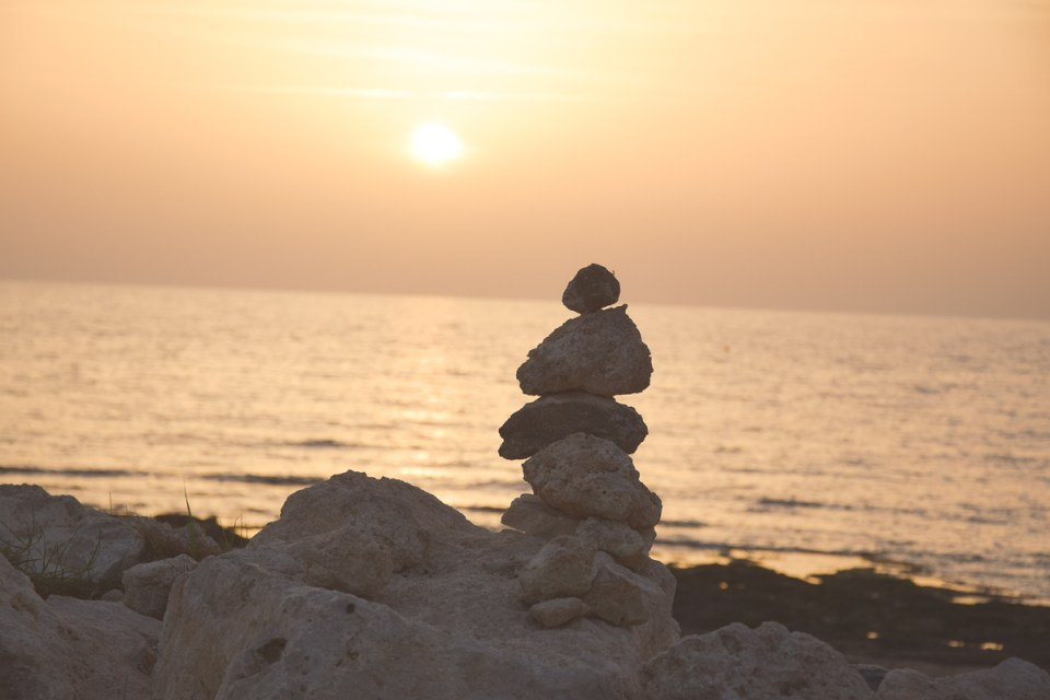 Sonnenuntergang am Meer in Paphos