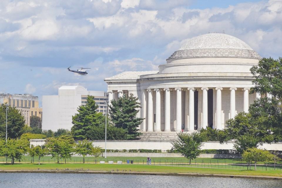 Das Jefferson Memorial wurde dem Pantheon in Rom nachempfunden
