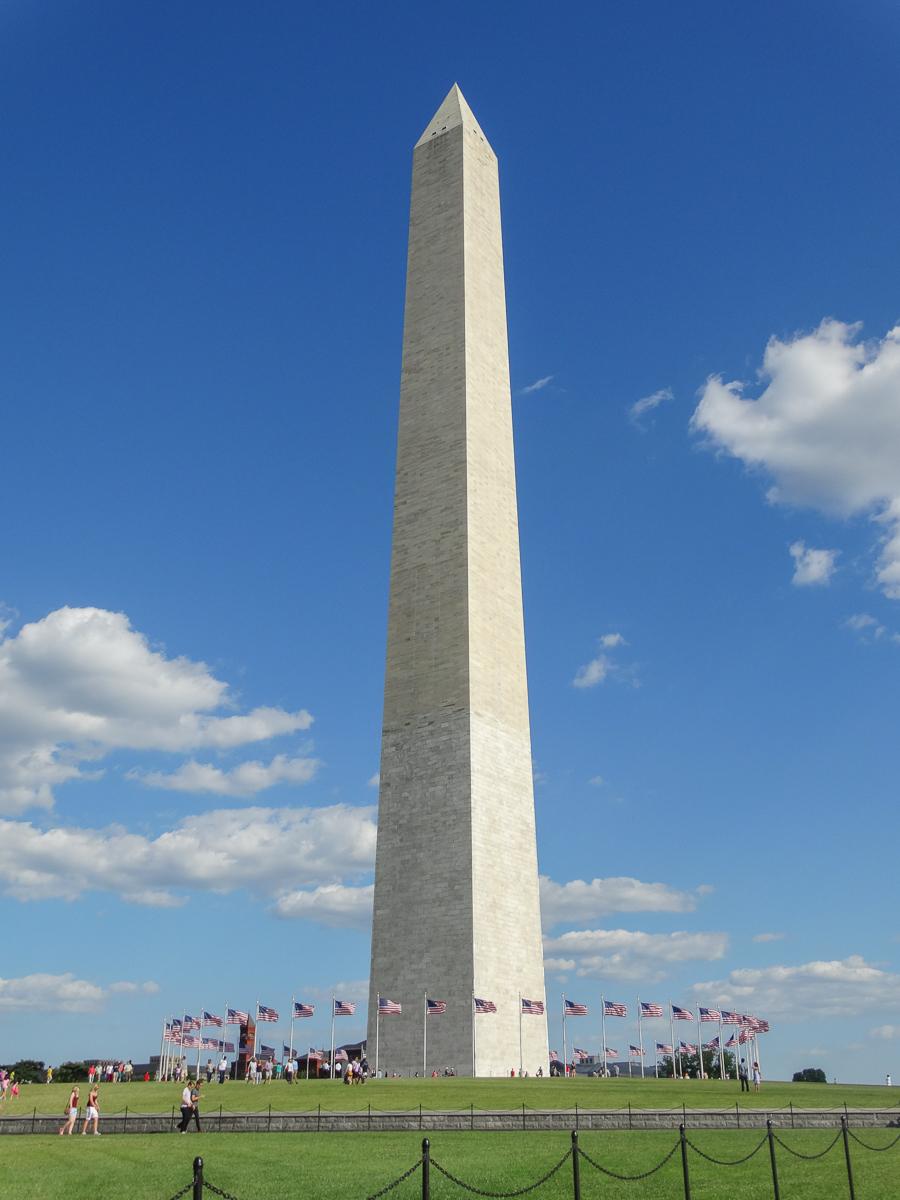 Washington Monument: Das Wahrzeichen zählt zu den Sehenswürdigkeiten Washingtons