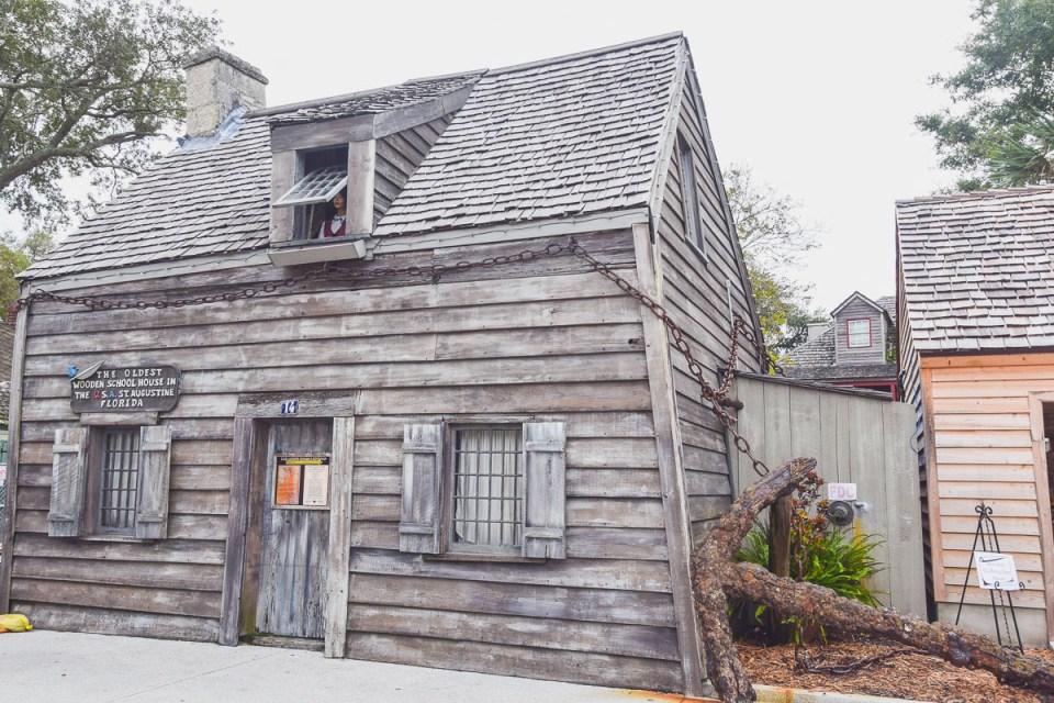 Ältestes Schulhaus der USA aus Holz St. Augustine