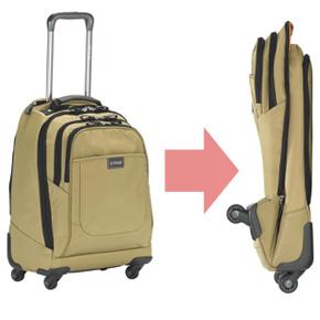 文字通り『たためる』スーツケース