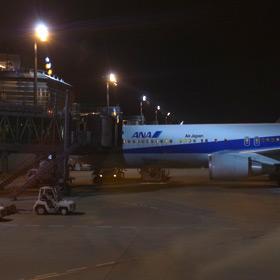 ソウルは金浦空港から羽田空港 一番遅いANA便で帰国