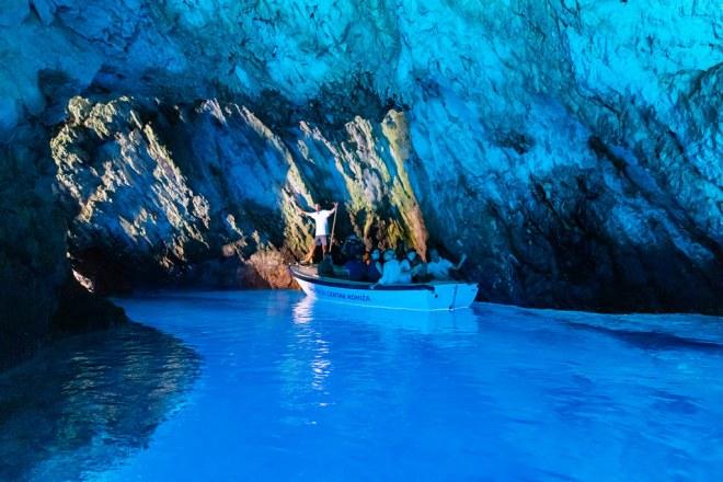 Blue Grotto on Bisevo Island, Croatia