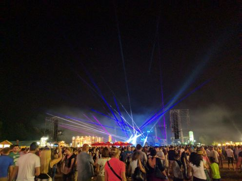 Sziget end show with Hardwell
