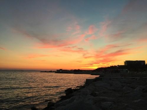 Last day sunset