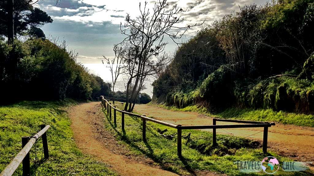 Camino a cala Sa Boadella en Lloret de Mar