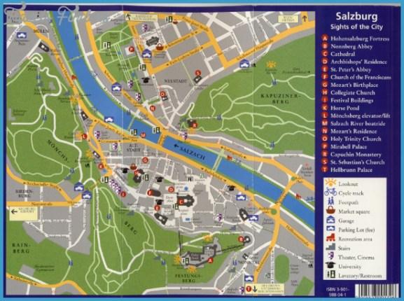 Tourist Map of Salzburg