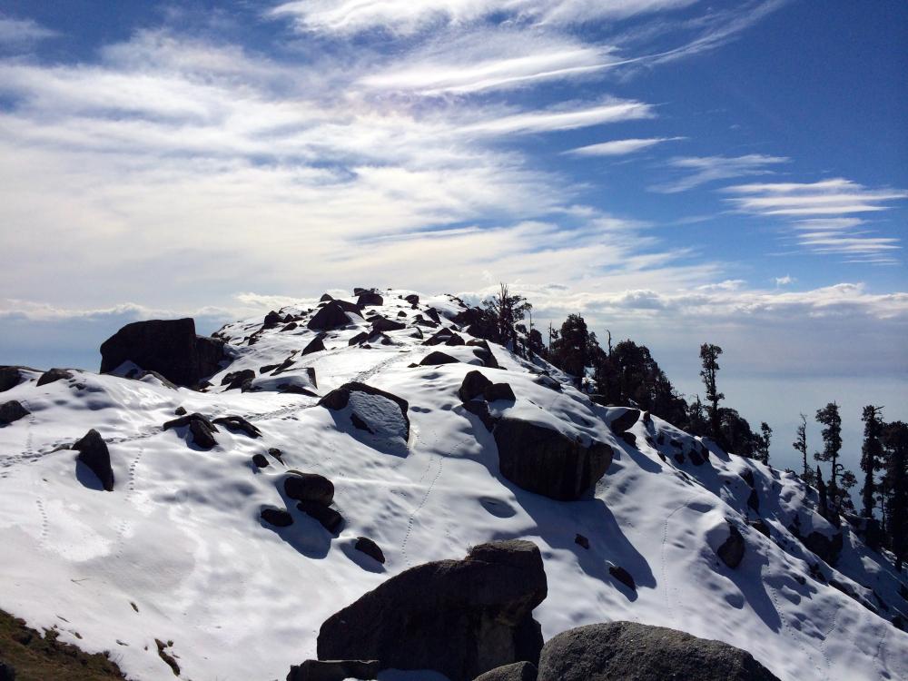 Triund January winter Trek