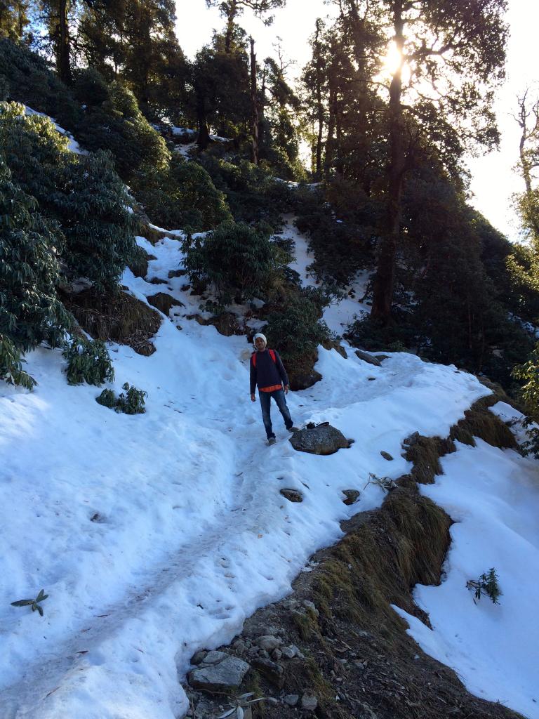 Trekking to Triund