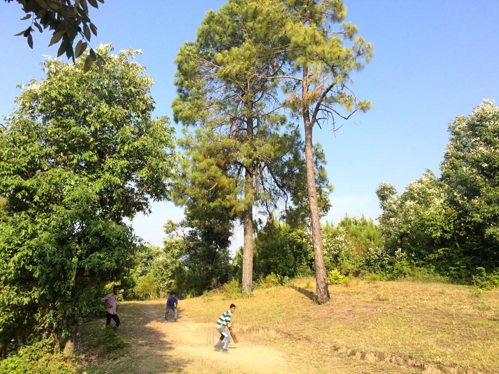 Cricket in Sonapani, Uttarakhand.