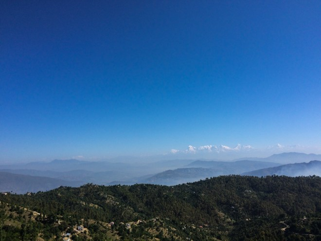 Grand Himalayan views with majestic blue skies