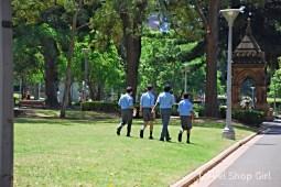 School kids in uniform in Hyde Park
