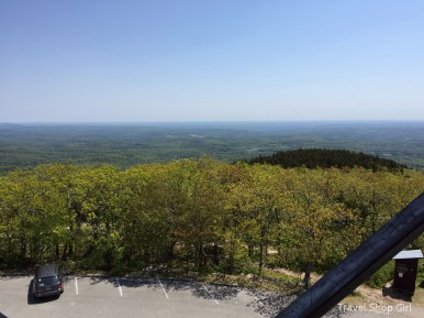 View from the staircase of the Fire Tower