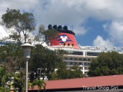 The Disney Fantasy as seen while walking around Havensight